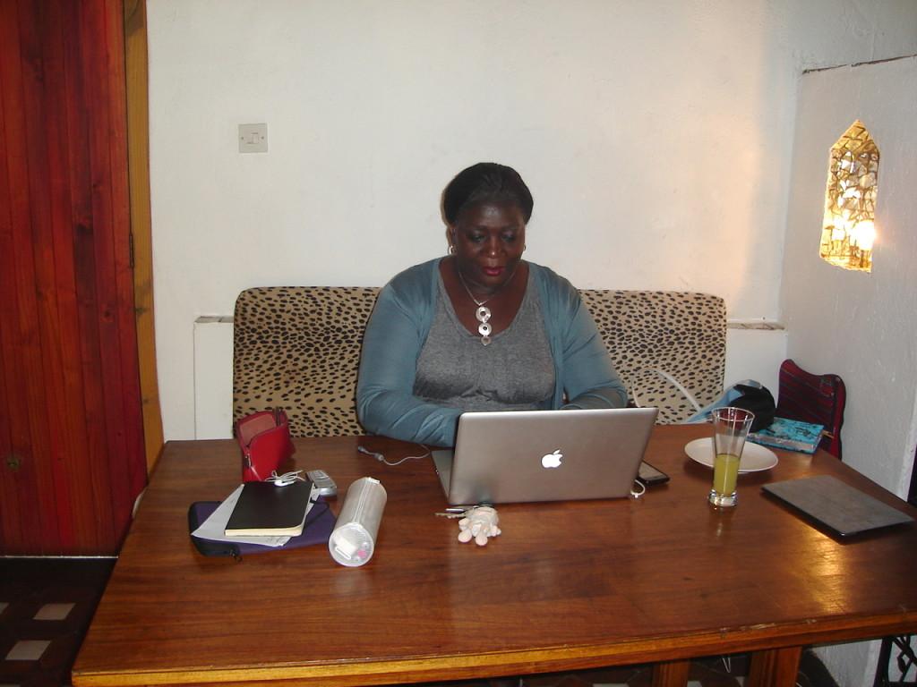 Farai in Zim Office