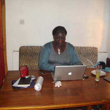 Farai Samhungu in the new Zimbabwe office