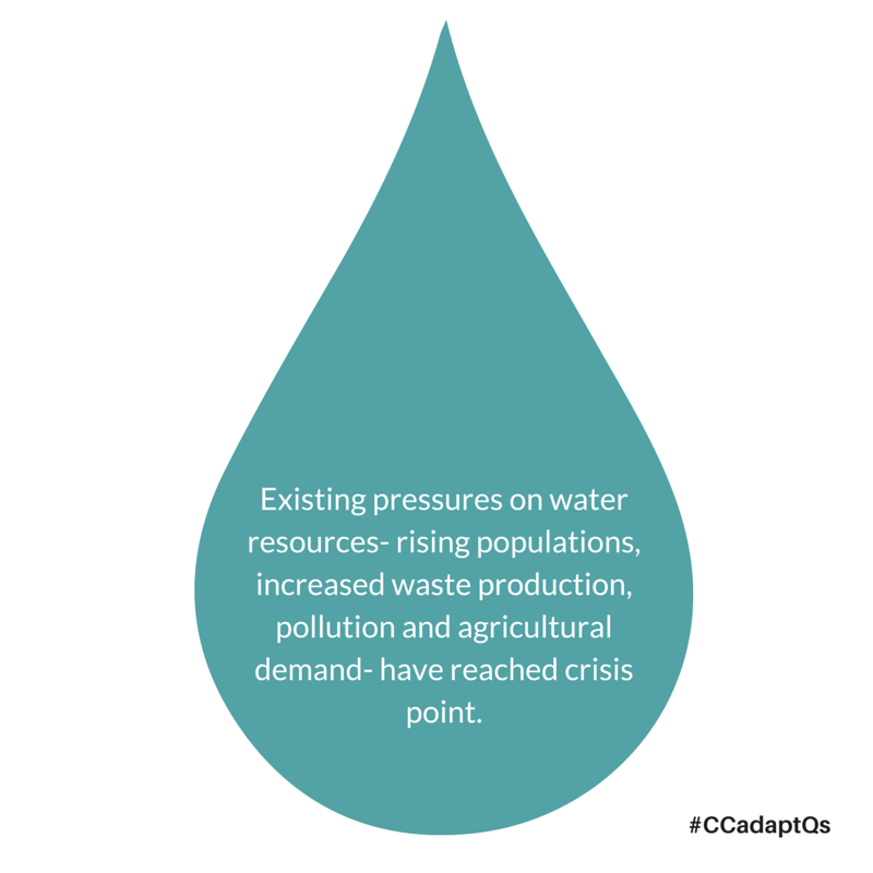 Existing pressures on water resources-